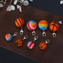 Bright Colors Epoxy Basketball Volleyball Keychain Accessori