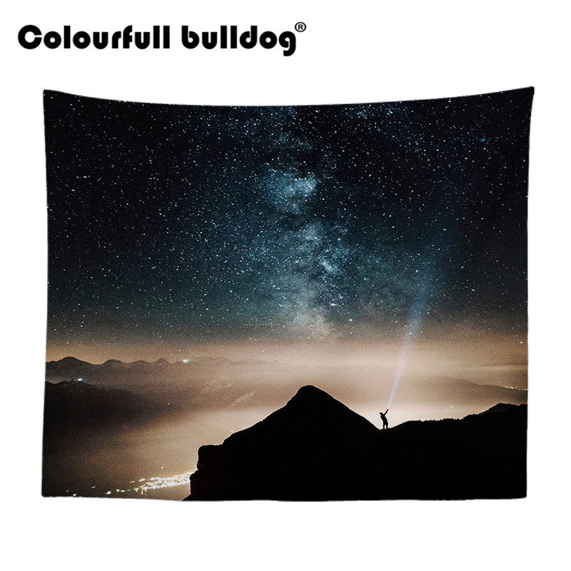 US $7 59 5% OFF|Astrology Stars Tapestry Wall Hanging Wall Galaxy  Lighthouse Art Picnic Decor Blanket Snow Mountain 130Cm Polyester Novelty  Gift-in