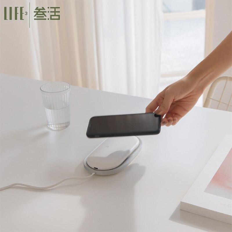 NS pour IPhone 8/X Samsung S8/S9 chargeur sans fil 5000 mAh batterie externe chargeur de batterie portable externe avec support de Charge Dock