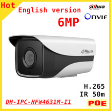 Original DAHUA 6MP IP camera DH-IPC-HFW4631M-I1 IR 50M 1080P full HD Support POE and Onvif Security camera IPC-HFW4631M-I1