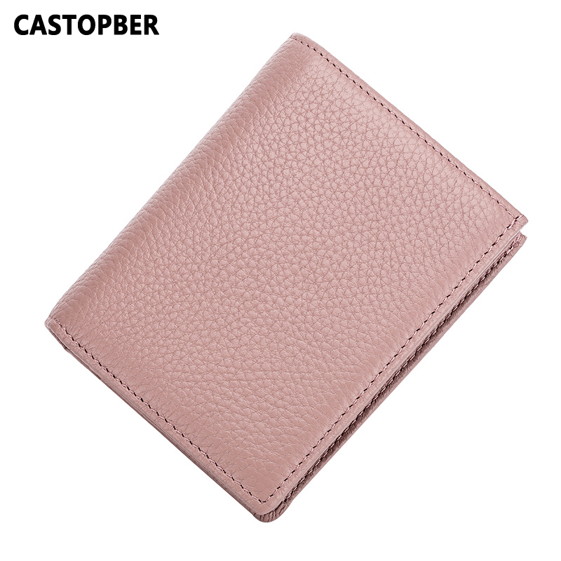 Women Causal Mini Wallet Cow Genuine Leather Coin Purse Small Wallets Credit ID Card Holders For Men High Quality Famous Brand цены онлайн