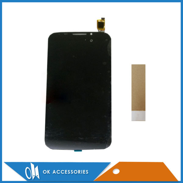 For Alcatel POP S7 OT7045 <font><b>7045Y</b></font> OT 7045 LCD Display+Touch Screen Digitizer Assembly Black Color With Tape image