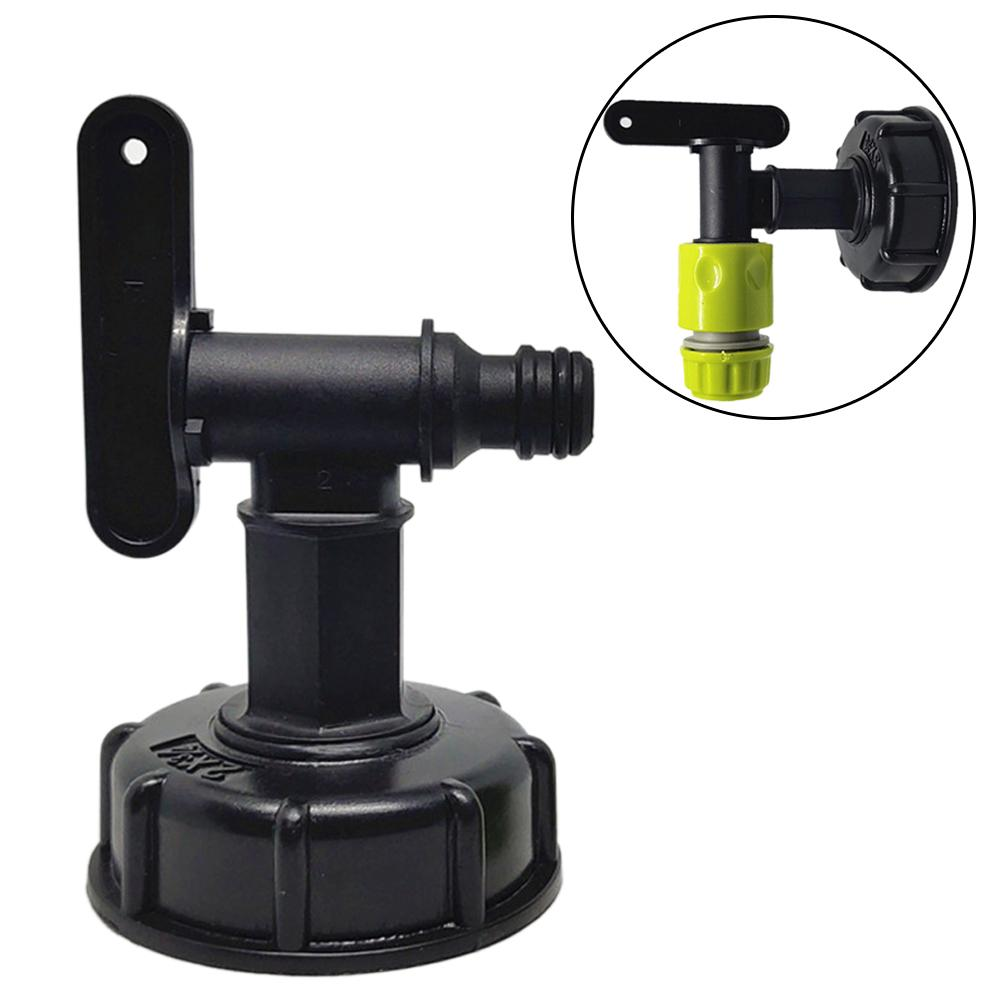 Garden Water tap adapter Tank Faucet 1pc 15mm joint Hose Black Durable