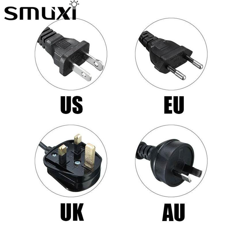 Smuxi Black/White 1/1.2/1.8/2M Cord ON/OFF Switch Lamp Base Himalayan Salt Lamp Electric Power US/EU/UK/AU Plug