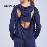 Women Yoga Top Sports Wear For Women Gym Hooded Sport Shirt Back Hollow Design Breathable Sportswear Running Gym Clothes