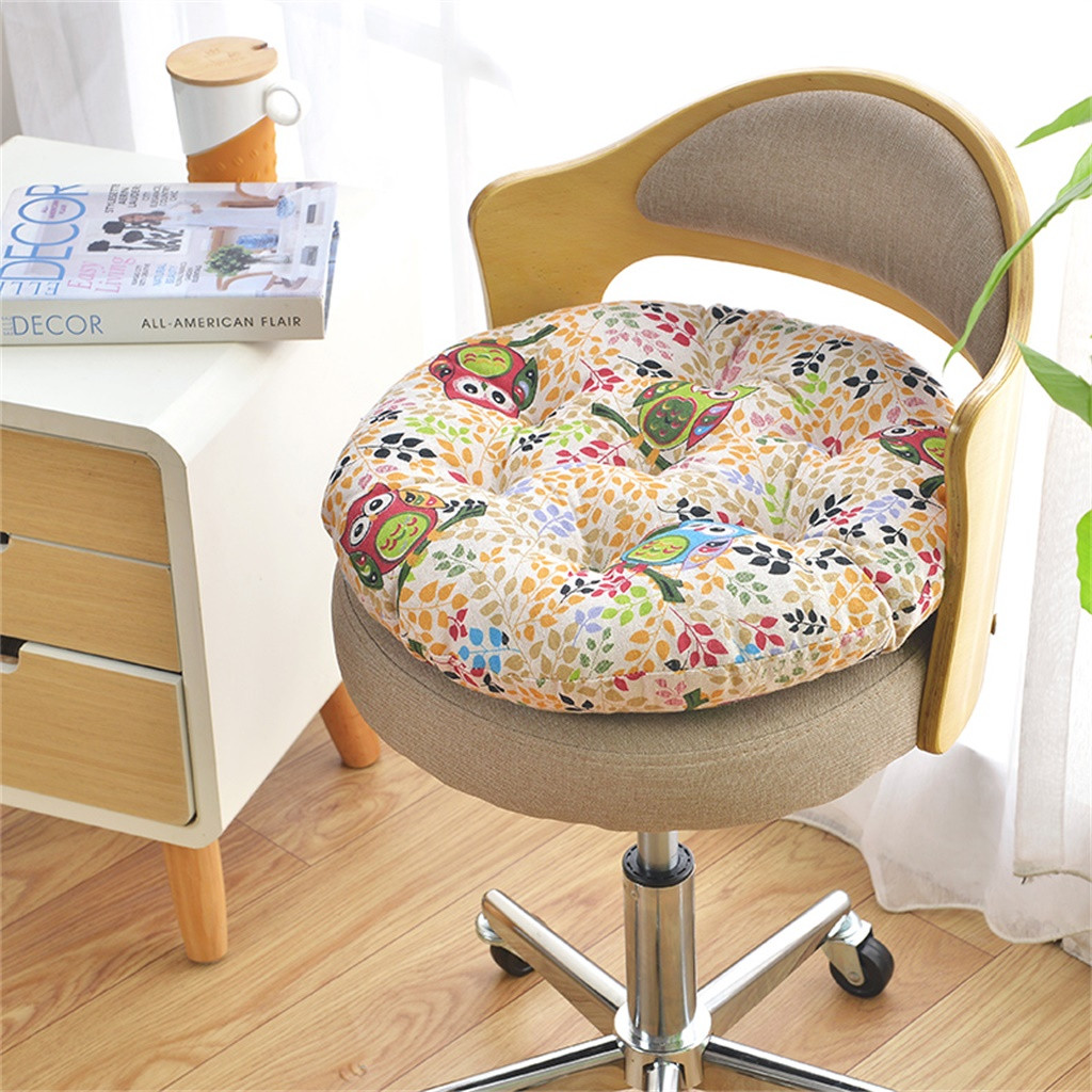 Gacsidy Store Chair Cushion Round Cotton Upholstery Soft Padded Cushion Pad Office Home Or Car Seat