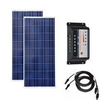 Solar Panel 300w Module 12v 100w 3Pcs Charge Contoller 12v/24v 30A Battery Charger RV Car Caravan Camping LED