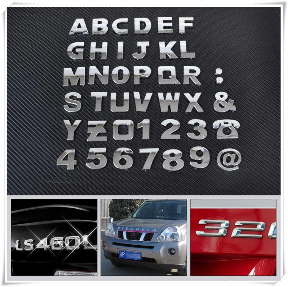 Auto auto FAI DA TE Lettera di Alfabeto numero di Adesivi Logo per Volkswagen VW polo passat b5 b6 CC golf jetta mk6 tiguan gol