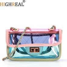 New Fashion Women Clear Transparent Shoulder Bag Jelly Candy Summer Beach Handbag Woman Messenger Bags Bolsa Feminina