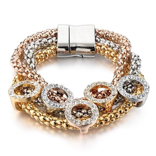 Женский браслет из нержавеющей стали с кристаллами sbr160366