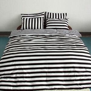 Image 5 - 3ピース布団カバーセットスーパーキングクイーンサイズカスタマイズされた寝具セット印刷ないボールをフェードしないベッドセット黒と白