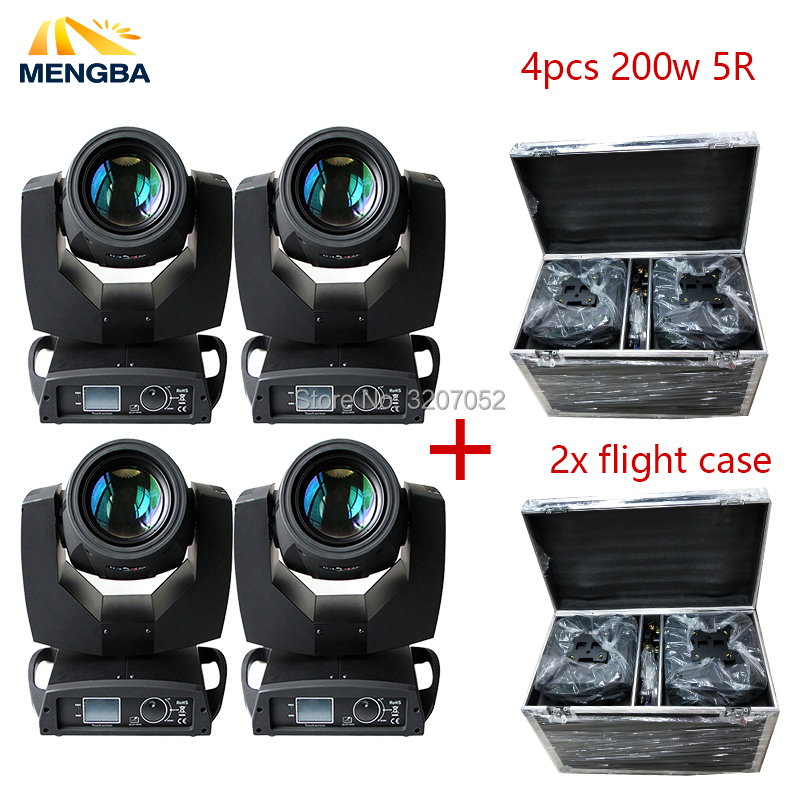 4pcs Touch Screen Beam 200w 5r Moving Head Light With Flight 2xCase Package Sharpy Beam 200
