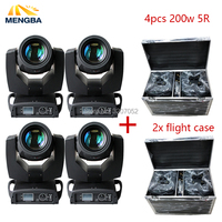 4pcs Touch Screen Beam 200w 5r Moving Head Light With Flight 2xCase Package Sharpy Beam 200 Beam 5r for dj/party/wedding/stage