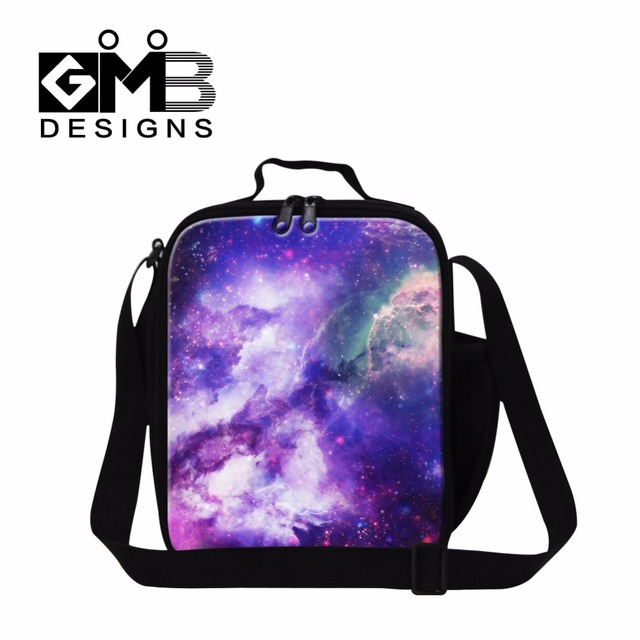 2017 Galaxy Fashion Insulated Lunch Bags for Girls Stylish Work Lunch Container for Women Lunch Cooler Bags for Children School