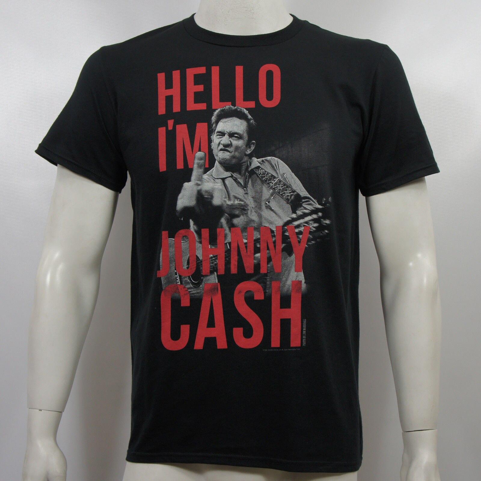 XL MD XXL New Johnny Cash Flippin The Bird T-Shirt SM LG
