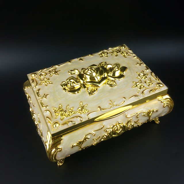 Mini metal box Russian high end jewelry box European jewelry