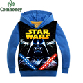 Boys Hoodies for Baby Spring Autumn Cartoon Star War Jacket Teenage Print Coat Brand Kid Designer Sport Sweatshirt Child Costume