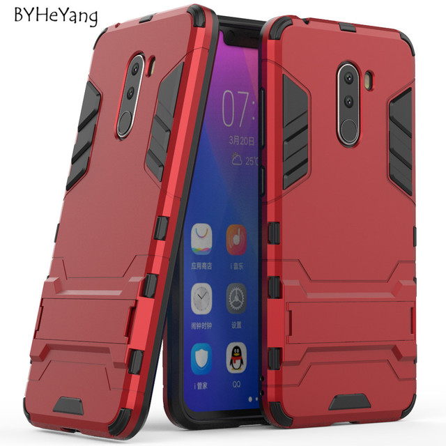 best service 22960 9d83e US $2.62 8% OFF|For Xiaomi Pocophone F1 Case global POCO F1 Cover Anti  Knock Hard Plastic Robot Armor Back Case for Xiaomi Pocophone F1 Cover-in  ...