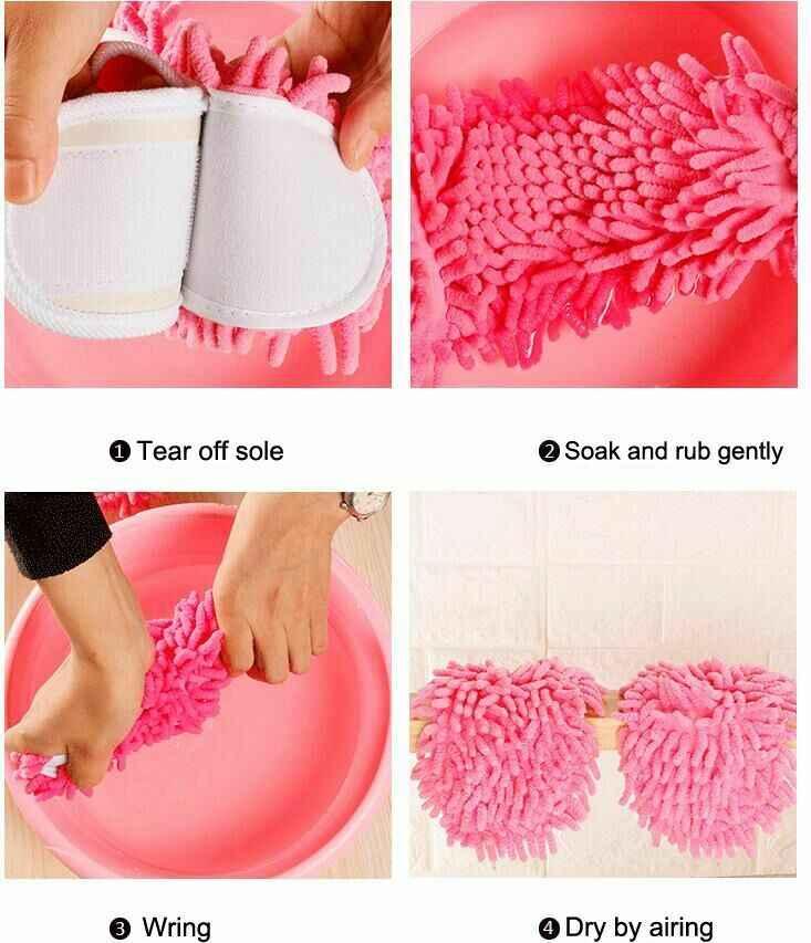 1 paar Staub Mops Hausschuhe Faul Boden Fuß Socken Schuhe Kreative Schnelle Reinigung Staub Mikrofaser Weiche Tragbare Boden Abstauben Abdeckung
