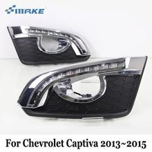 SMRKE DRL Per Chevrolet Captiva 2013 ~ 2016/12 V Auto Diurne A LED luci/2 Colore Auto Giorno Guidare Luce Nebbia/Nebbia Struttura Della Lampada