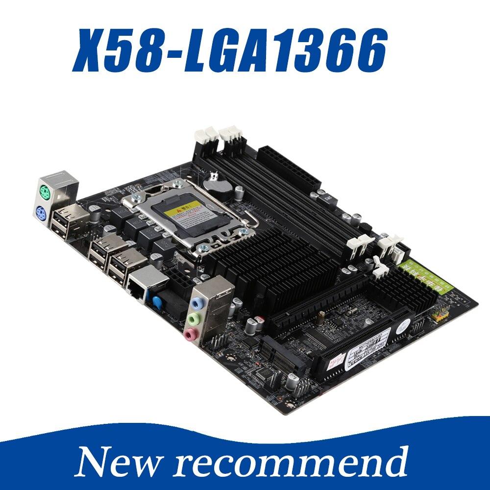 211*188mm Desktop Scheda Madre LGA 1366X58 4xDDR3 32 gb ECC RAM PC Scheda Madre Del Computer M-SATA PCIE 16X Per Inter X58