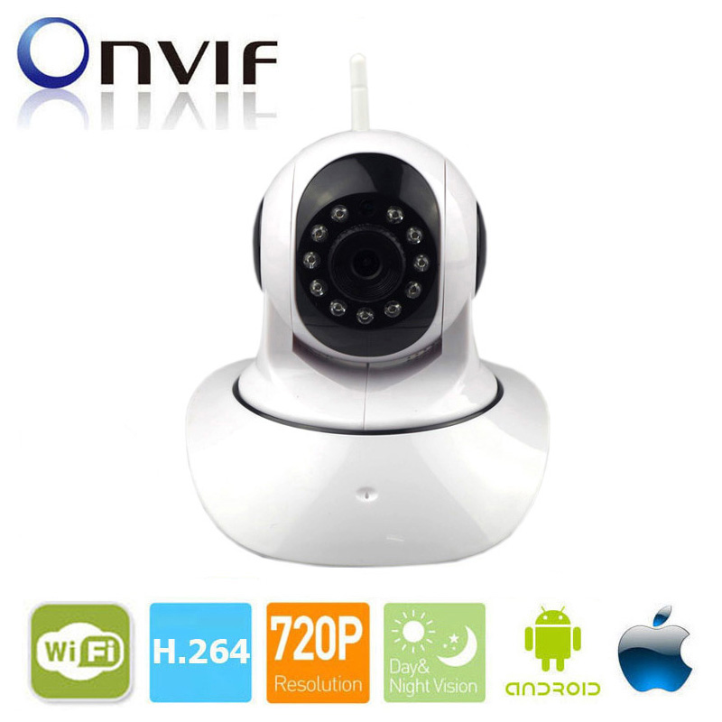 Pan / Tilt Wireless IP Camera Wifi 720P HD CCTV For Home P2P Security Surveillance Two-Way Audio 32GB SD Card Slot Mobile APP