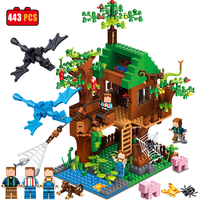Qunlong Minecrafted Classic Tree House My World Legoed Figures Building Blocks Bricks Educational Toys For Children