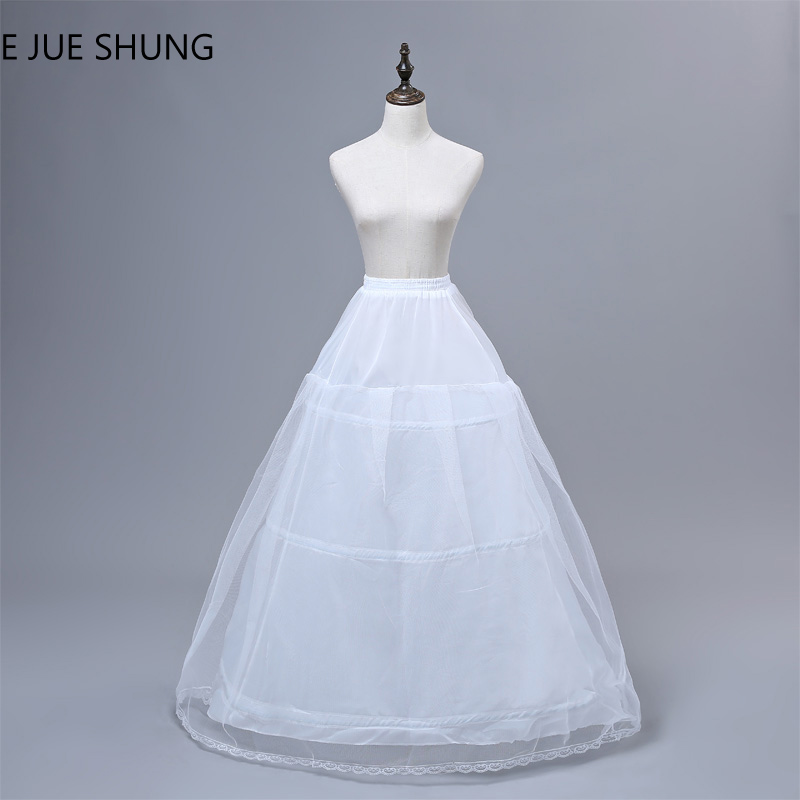 E JUE SHUNG 3 Hoops Wedding Petticoat High Quality Cheap Ball Gown Crinoline Underskirt