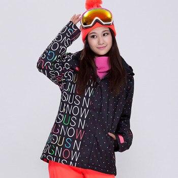 High Quality Outdoor Windproof Waterproof Breathable Women Ski Coat Double  Single Board Super Thick Warm Ski Jacket Female