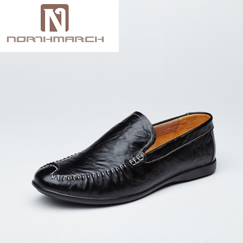 NORTHMARCH Big Size 36~47 Genuine Leather Men Shoes Soft Moccasins Loafers Fashion Brand Men Flats Comfy Driving Shoes Men big size 36 47 men casual shoes men fashion brand loafers spring autumn moccasins men genuine leather shoes men s flats shoes