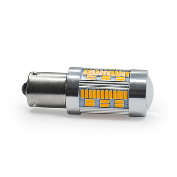 MODERN CAR 10pc 105 SMD T20 7440 1156 BAU15S PY21W BA15S 4014 Chip LED Bulbs Amber Yellow For Auto Car Turn Signal Reverse Light