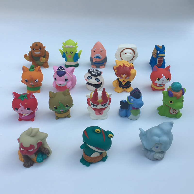 5PC/Lot Cartoon Toy Yokai Watch PVC Action Figure Kids Children's Birthday Christmas Gift Baby learning newborn Toy 5CM ASB12 lps lps toy bag 20pcs pet shop animals cats kids children action figures pvc lps toy birthday gift 4 5cm