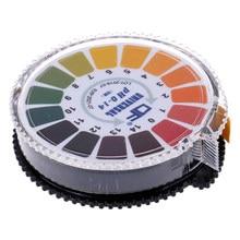 Rolo de papel de teste indicador de ácido alcalino, 1 peça, 5m, 0-14 1-14 medidores de ph para água urina saliva solo litmus medição precisa