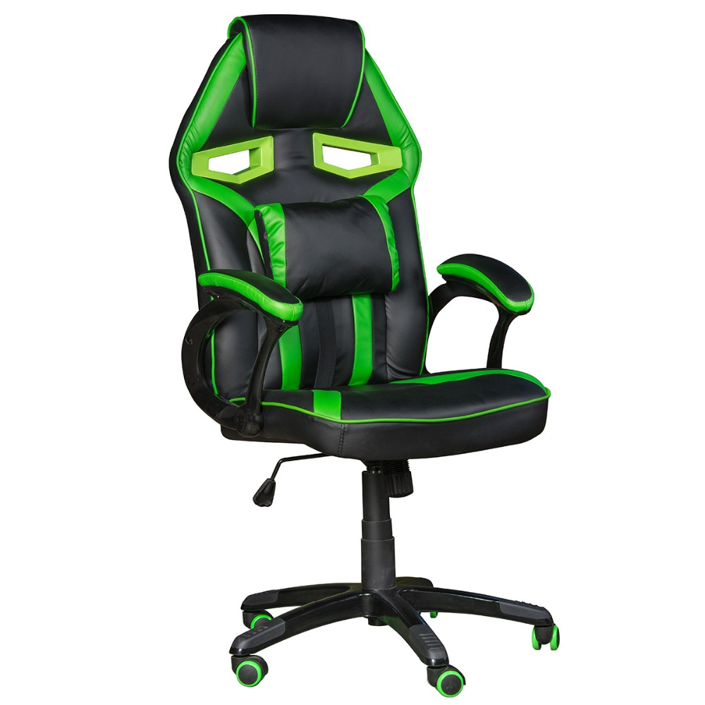 Racing Synthetic Leather Gaming Chair Swivel Chair Internet Cafe Computer Chair Comfortable Household Office Chair Free Shipping
