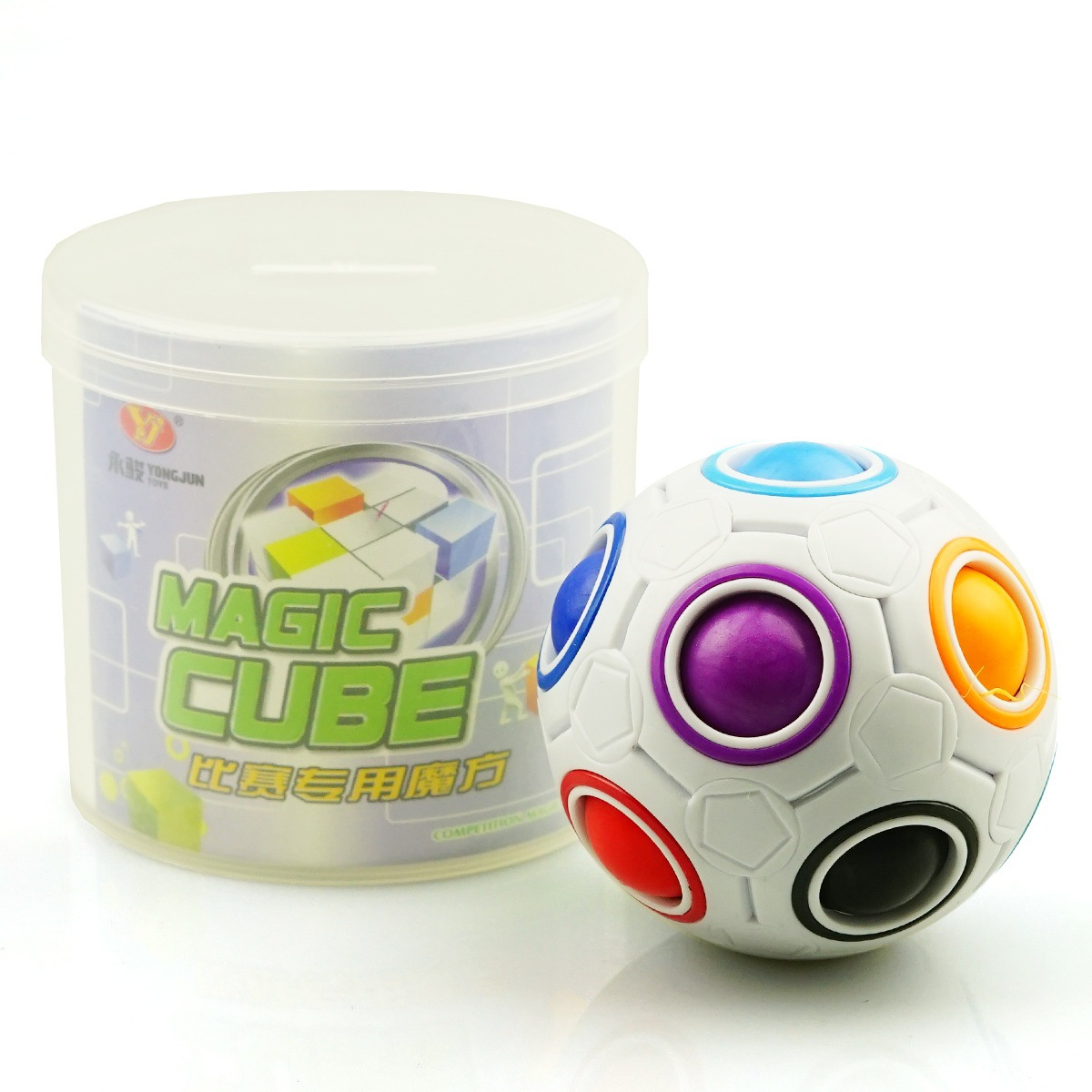 Magic Rainbow Ball Magic Football Puzzle Ball Cube Spherical Creative Educational Toys For Children Gift