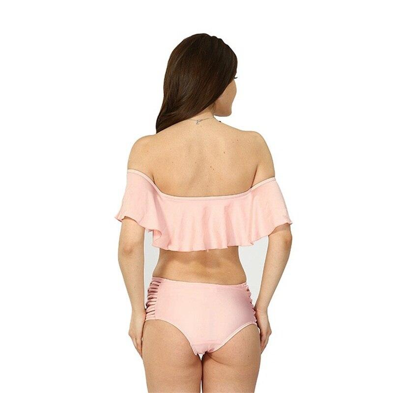 868eb50c6035b Yichaoyiliang High Quality Sexy Ruffles Biquini Set 2018 Falbala High Waist  Swimwear Junior School Girl Swimsuit Bathing Suits-in Bra & Brief Sets from  ...