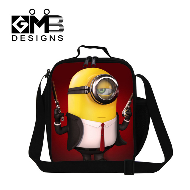 2016 Hot Children Cartoon Character Lunch Bags Despicable Me Minion Lunch Box For Kids Thermal Insulated Cooler Picnic Food Bags