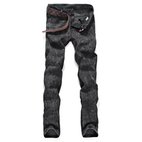 2017 Mens החדש בוטיק אופנה ג 'ינס slim פנאי צבע טהור/כחול שחור אפור Midweight Mens מזדמן זכר מכנסיים
