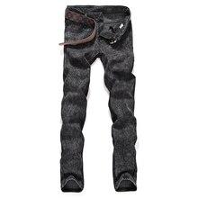 Новый 2017 Мужская мода бутик pure color тонкий досуг джинсы/Серый черный синий Мужская повседневная Midweight джинсы Мужские брюки
