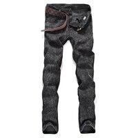 Yeni 2017 Erkek moda butik saf renk İnce hobi kot/Gri siyah mavi Erkek rahat Midweight kot Erkek pantolon