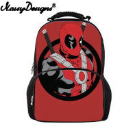 Cartoon Deadpool Comics Superheros School Bags Teenagers Boys Girls Cute Book Bag Kids School Backpack Mochila Escolar Bagpack