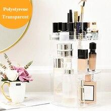 1PCs 360 Degree Rotating Adjustable Cosmetic Storage Display Holder Makeup Organizer Rack For Creams Makeup Brushes Lipsticks