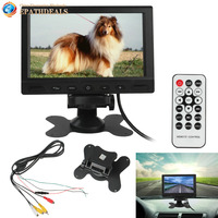 800 X 480 7 Inch Pixel TFT LCD Digital Panel Color Car Rear View Monitor With