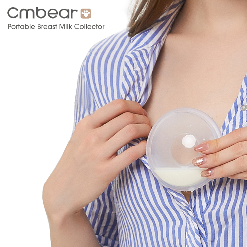 Cmbear 2pcs Potable Breast Collector Silicone Baby Milk Feeding Manual Breast Pump Automatic Collection For Nursing Cup Women in Breast Pump Accessories from Mother Kids