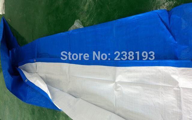 Настроить 4 м X 6 м синий и белый открытый покрыты тканью, водонепроницаемый холст, дождь брезент, грузовик брезент. большие палатки ткань
