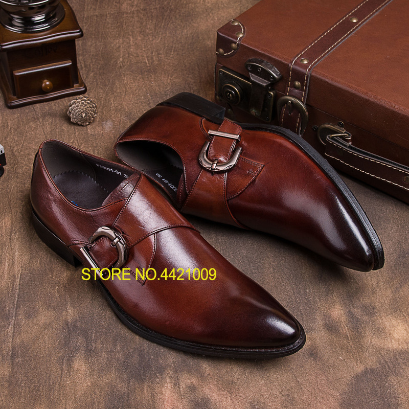 pointed toe men dress oxfords shoes italian leather male wedding party formal shoes black slip on fashion design business shoes