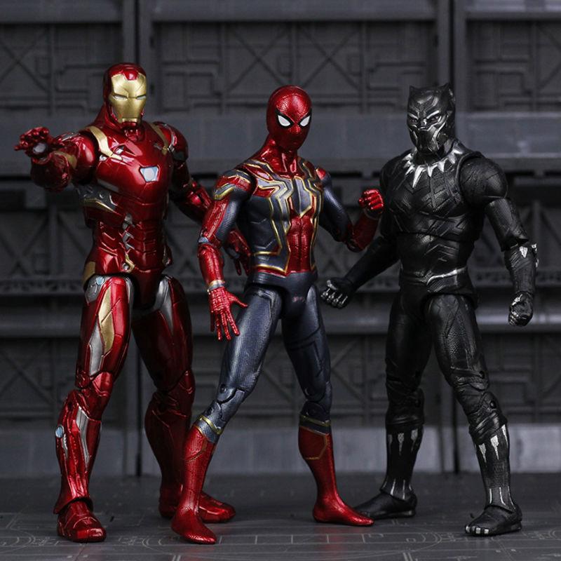 Avengers Infinity War Iron Spider Figure Spiderman Black Panther Iron Man Action Figure toy brinquedos do aranha ferro