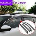 QCBXYYXH Auto Styling 4 teile/los Fenster Visiere Für Citroen C2 C3 XR C4 C5 Aircross C4L C Elysee Sonne Regen schild Aufkleber Deckt|Markisen & Schutzhütten|Kraftfahrzeuge und Motorräder -