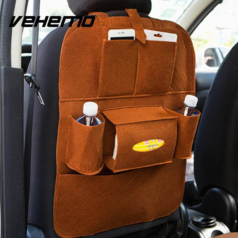 car back seat boot organizer storage bag multi pocket car felt covers seat covers protective. Black Bedroom Furniture Sets. Home Design Ideas