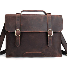 YISHEN Retro Briefcase Genuine Leather Men Messenger Bag Business Men Handbag Casual Male Shoulder Crossbody Bag Bolsas MSRY0022